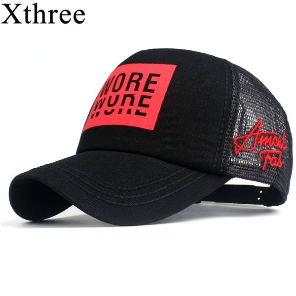 Xthree New Men's Baseball Cap Print Summer Mesh Cap Hats For Men Women Snapback Gorras Hombre hats Casual Hip Hop Caps Dad Hat 1