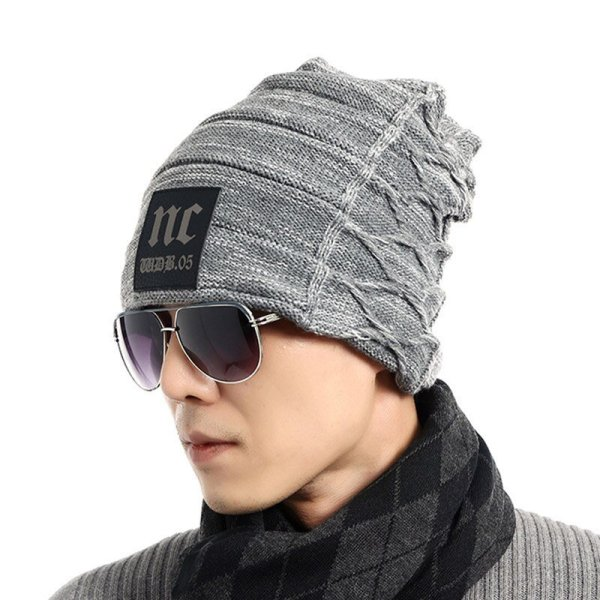FETSBUY Brand Beanies Knit Men'S Winter Hat Caps Thick Skullies Bonnet Hats For Men Women Beanie Female Warm Baggy Knitted Hat 6