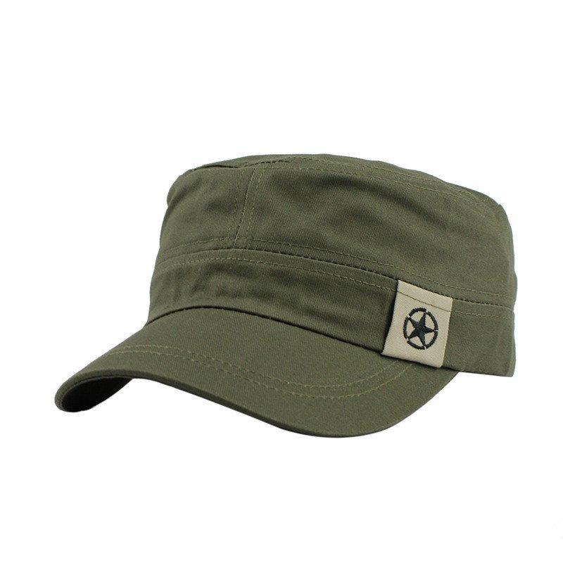 Mens Military Hats Casual Flat Top Baseball Caps Cotton Dad Caps Snapback Caps