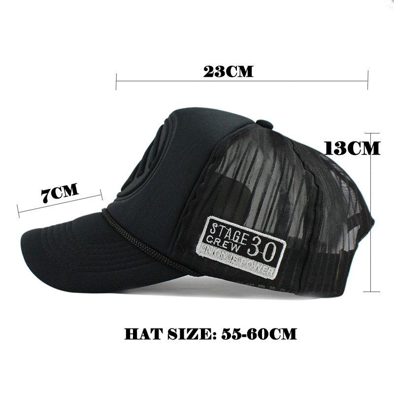 Summer Trucker Hat Fitted Casual Hip-hop Mesh Hat Unisex Print Baseball Cap New