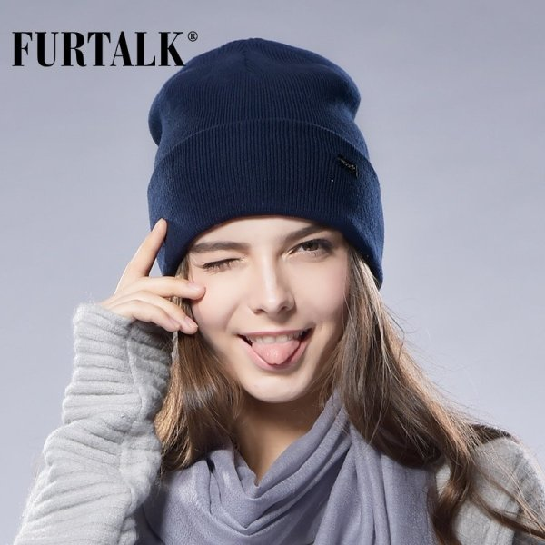 FURTALK Winter Hats for Women Men Knitted Beanie Hat Cap for Girls Female and Male Skullies Couples Stocking Hats Cap 4