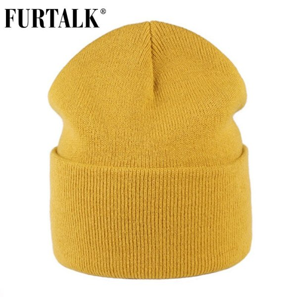 FURTALK Winter Hats for Women Men Knitted Beanie Hat Cap for Girls Female and Male Skullies Couples Stocking Hats Cap 6