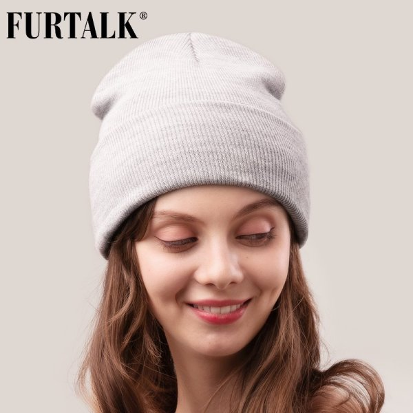 FURTALK Winter Hats for Women Men Knitted Beanie Hat Cap for Girls Female and Male Skullies Couples Stocking Hats Cap 10