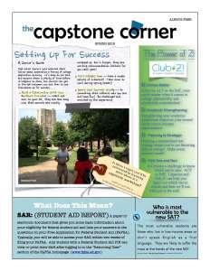 Capstone Corner Newsletter Spring 2015