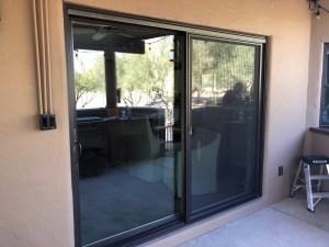 8 ft bronze patio door