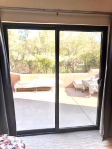 bronze interior patio door