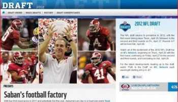 NFL Draft Story on Alabama and the First Round