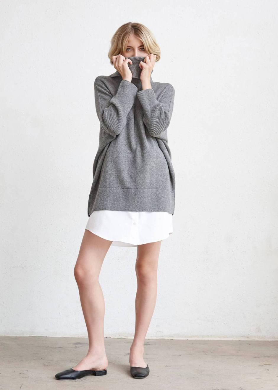 0d111321fd5362 This sweater is available here in gray and black, and is part of a very  cool mini-collection that is designed to be worn together in a ton of ...