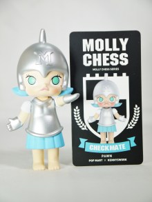 Pop Mart Kennyswork MOLLY CHESS CLUB CHECKMATE PAWN BLUE 09