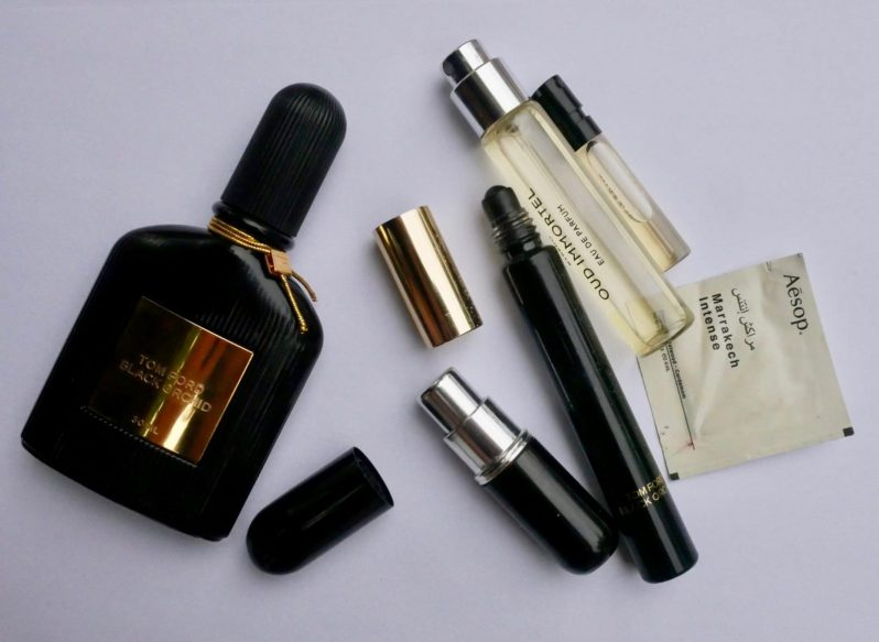 traveling with perfume
