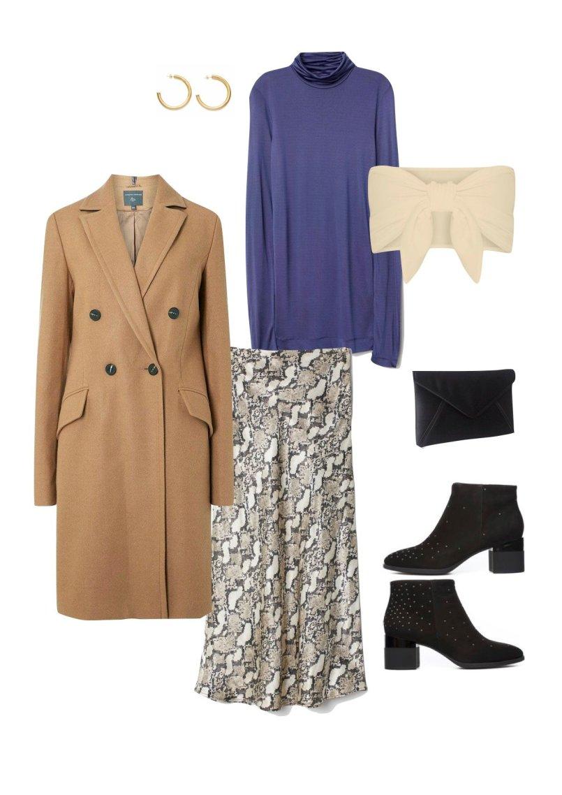 hm calf-length snakeskin skirt