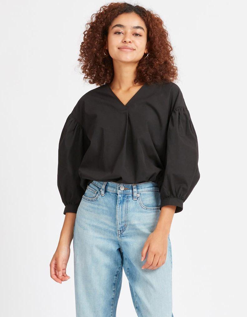 uniqlo wrinkle-resistant blouse