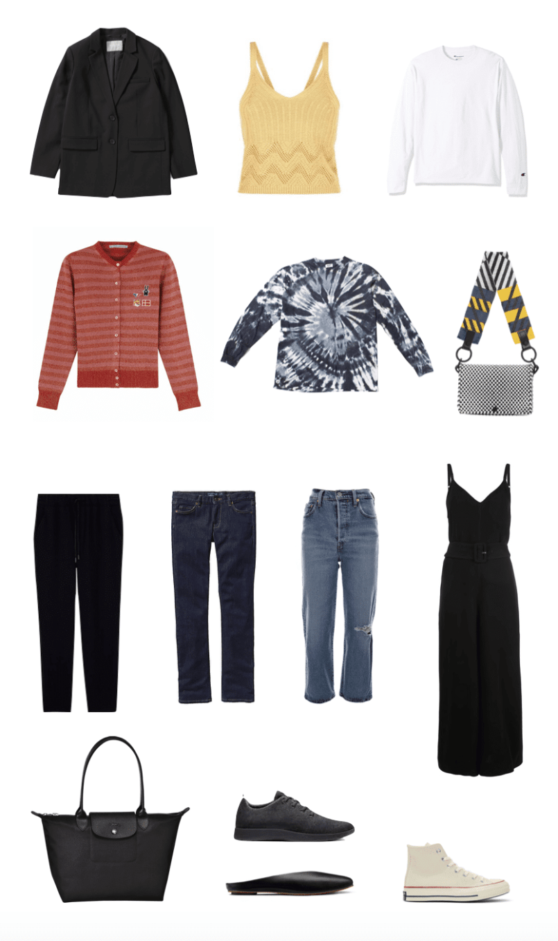 packing list for New York and San Francisco