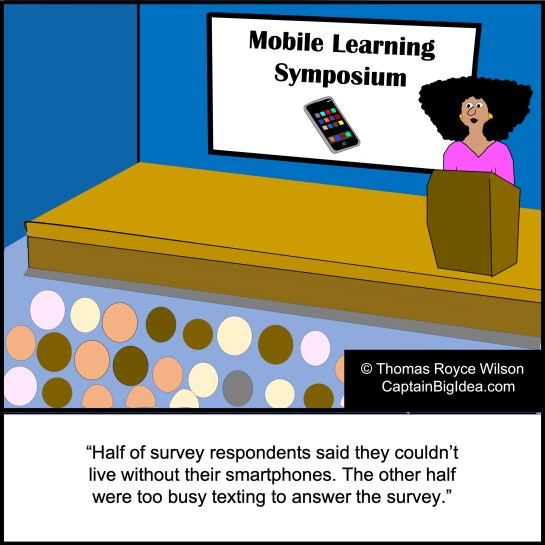 Cartoon about smartphone use.