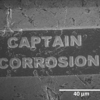 Captain Corrosion logo. ID: G0025