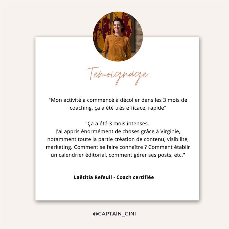 Laetitia Refeuil coach certifie