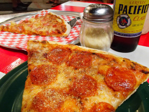 2 (big) slices and a beer for 50 pesos ($2.85)