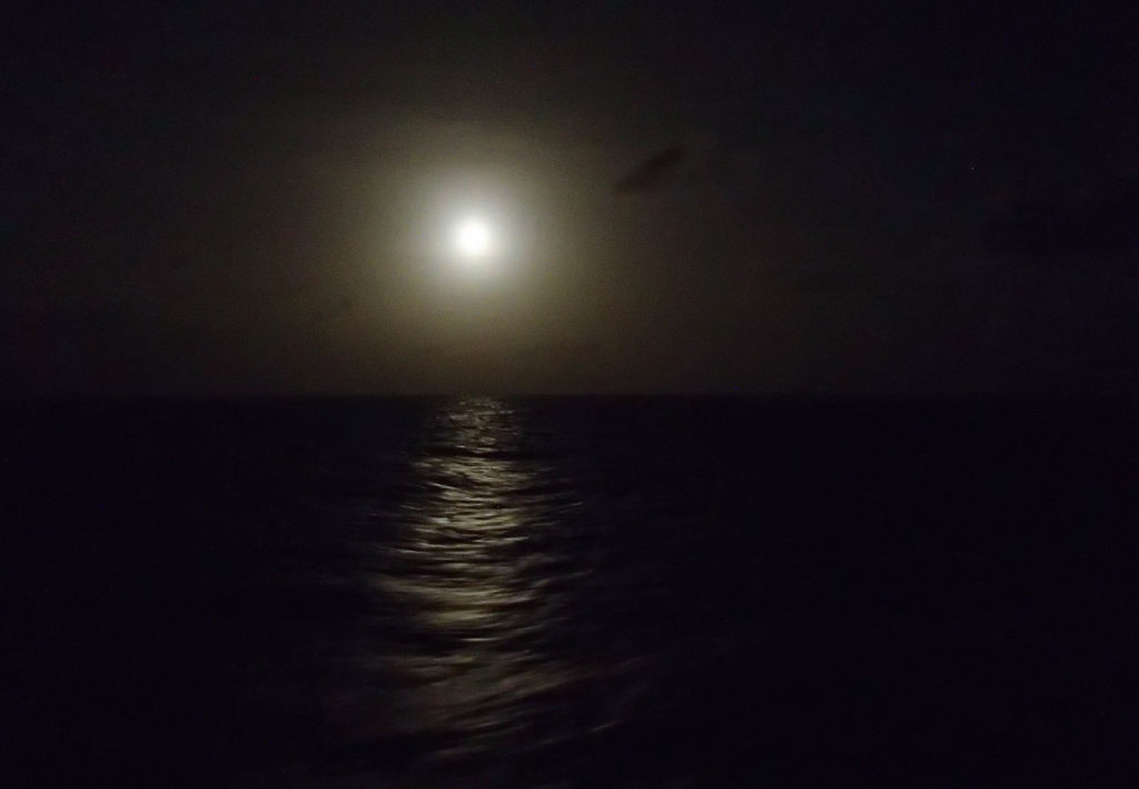 #night sky at #sea, #full moon