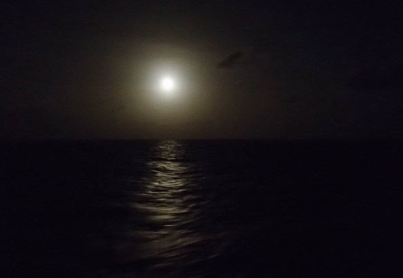#night sky at #sea, #full moon