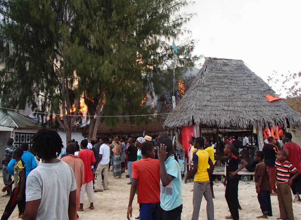 #fire and #emergency at a beach resort in #Zanzibar