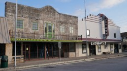 Michel's and the Uptown on Main. Two of the best known original downtown buildings in Marble Falls.