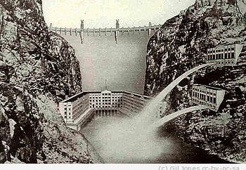 English: Original facade design for Hoover Dam...