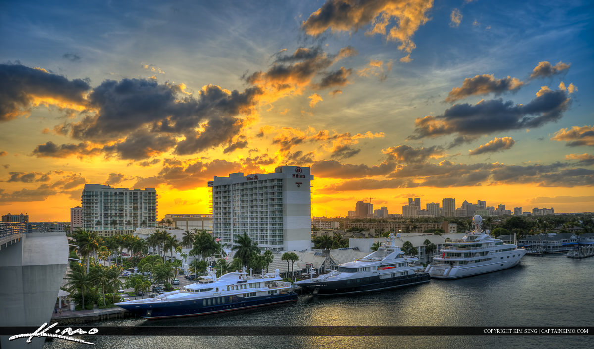Fort Lauderdale Sunset Over Waterway