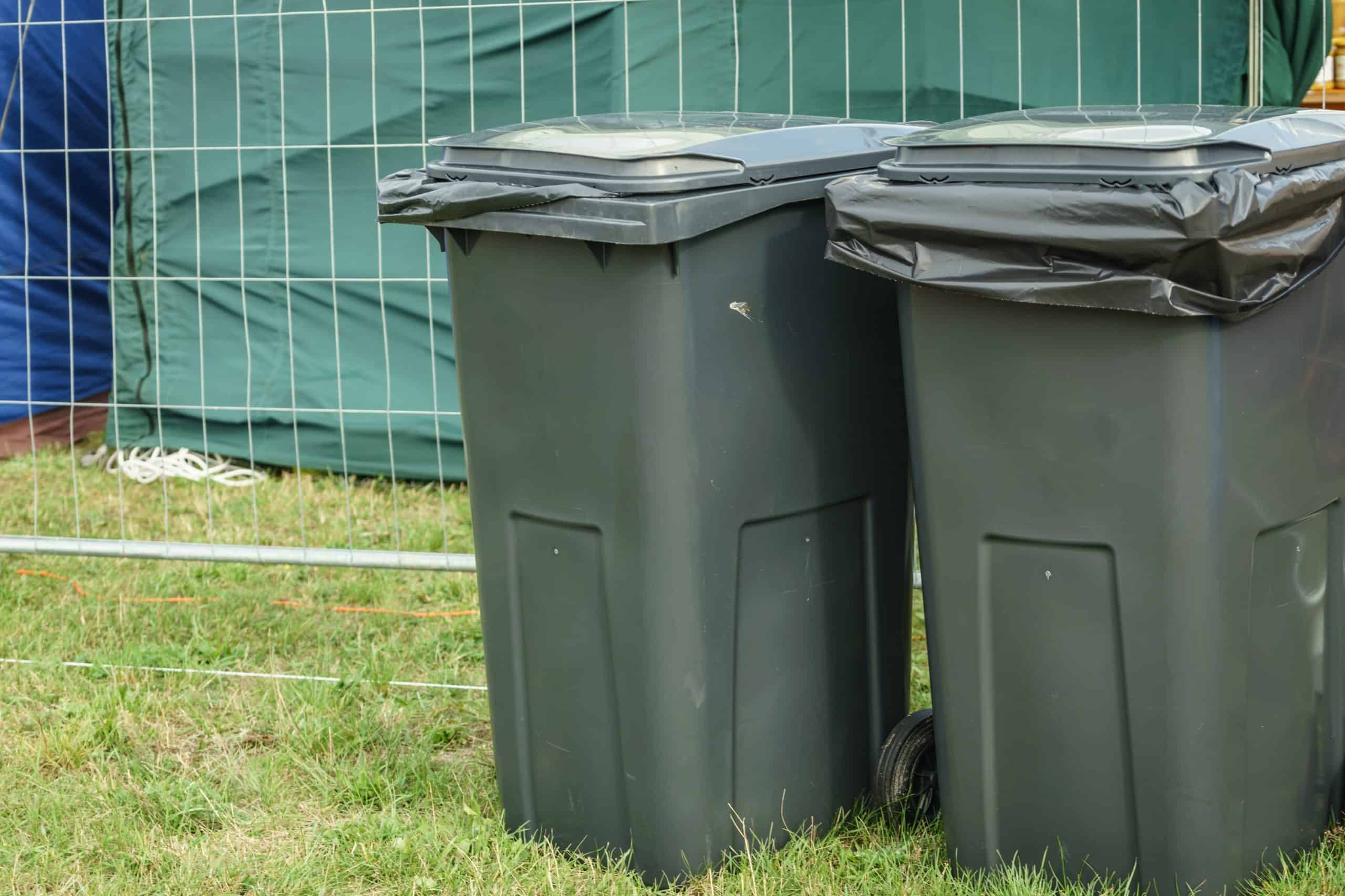 how to hide your outdoor garbage can