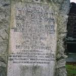 Gravestone in Kinloch Rannoch church yard - George STRACHAN & Euphemia MACGREGOR & sons George Duff STRACHAN & Duncan MacGregor STRACHAN