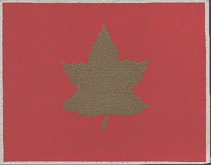 1 Canadian Infantry Division formation sign. Peel and stick decal from after WWII.