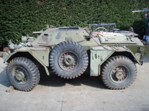 Ferret Scout Car Mark I, CAR 54-82598 - Left side, as found at Mill Bay, British Columbia, Canada.