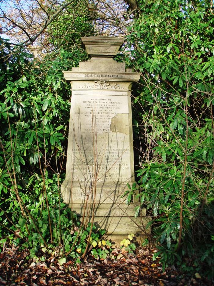 Duncan MacGregor`s Grave Paisley, Scotland