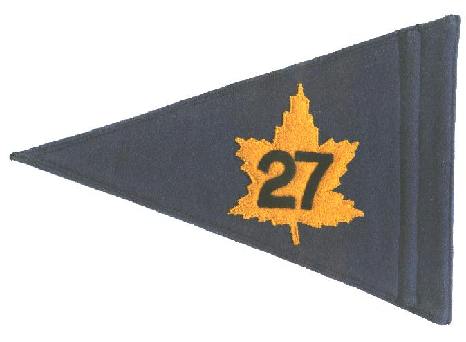Brigadier's pennant for the 27th Canadian Infantry Brigade which went to Germany as part of NATO.