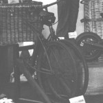 BSA Airborne Bicycle in a display of British Airborne Equipment done by the Royal Ordnance Corps in 1943 in England. (detail)