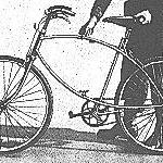 BSA Airborne Bicycle, open and the soldier it tightening or loosening the upper frame wing-nut.