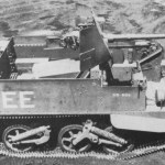 Universal Carrier, 2-Pounder Equipped. Test model in Canada is shown. Right side.