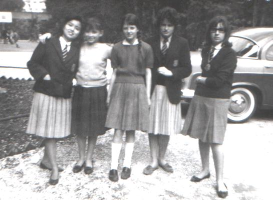 Yukari and others. Photo circa 1962 at St. George's English School. Sent in by Anneke ten Dam