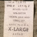 Tiger Stripes hat - shirt label
