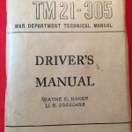 DRIVER'S MANUAL - U.S. WAR DEPARTMENT 1946 printing)