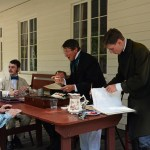 Fort Nisqually Brigade Days 2016 AUG (112) - Contract signing time.