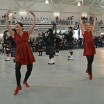 """(451) Two dancers of """"Shot of Scotch Premier Highland Dancers"""" They are performing an Irish dance here I believe. Technically speakaing, """"Scotch"""" of course actually refers to the drink (as in whiskey), and """"Scottish"""" to the people."""