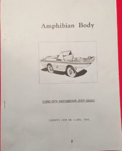Amphibian Body Ford GPA Excerpts from SNL G-658 1944 REPRINT