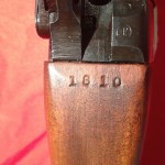 The original and first scope serial number 1810 stamped into the wrist.