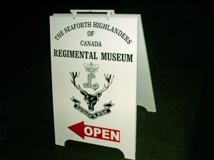 Seaforth Museum OPEN sign January 2000,