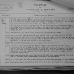 Seaforth WWII War Diary sample page