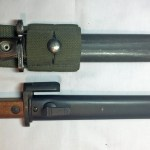 FN C1 bayonet on top and FNX2 E1 bayonet at the bottom.