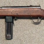 Reising Model 50 SMG DEACTIVATED - Left side with 12 round magazine (pinned)