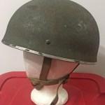 British Airborne Helmet MK II 1944 found in Scotland (1) left side