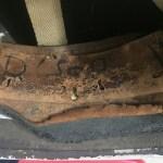 British Airborne Helmet MK II 1944 found in Scotland - part of inscription