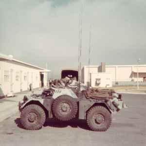 Ferret 54-82510 at Sarcee AB 1974 port side.